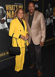 May 8, 2019 - Los Angeles, California, USA - 08, May 2019 - Pasadena, California Tonya Winfield and Dave Winfield attends 'What's My Name | Muhammad Ali' HBO Documentary Premiere at Regal Cinemas LA LIVE 14 in Los Angeles, California. (Credit Image: © Billy Bennight/ZUMA Wire)