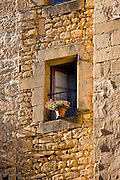 Traditional window in popular picturesque Sarlat in the Dordogne, France