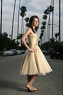 29th April 2009. Los Angeles, California. Faryl Smith (14) who rose to fame on the television show, Britain's Got Talent, performing as a mezzo-soprano. Faryl became the fastest selling solo classical album in British chart history, selling 29,200 copies in the first week..PHOTO © JOHN CHAPPLE / REBEL IMAGES.john@chapple.biz    (001) 310 570 9100