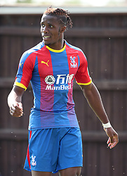Crystal Palaces' Wilfried Zaha during a pre season friendly match at The Kassam Stadium, Oxford