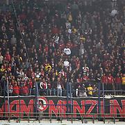 Eskisehirspor's Supporters during their Turkish superleague soccer match Fenerbahce between Eskisehirspor at Sukru Saracaoglu stadium in Istanbul Turkey on Sunday 14 April 2013. Photo by Aykut AKICI/TURKPIX