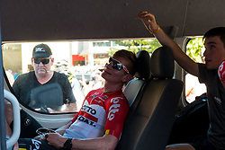 January 18, 2018 - Glenelg, South Australia, Australia - Andre Greipel taking it easy before the start of Stage 3, Glenelg to Victor Harbor, of the Tour Down Under, Australia on the 18 of January 2018  (Credit Image: © Gary Francis via ZUMA Wire)