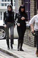 BOND GIRL GEMMA ARTERTON AND TALLULAH RILEY BEGIN FILMING THE SECOND  ST TRINIANS FILM IN LONDON PIC JACK LUDLAM 07887 590 968 MUST BYLINE