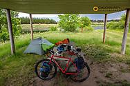 Bike campsite at Cub Creek Recreation Area near Springview, Nebraska, USA MR