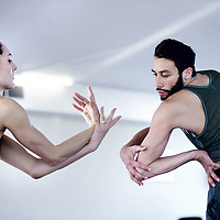 Nederland, Amsterdam , 7 februari 2012..Het dansduo Drew Jacoby en Rubinald Pronk...Foto:Jean-Pierre Jans