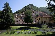 View alongside the River Nera in Scheggino, Umbria, Italy.