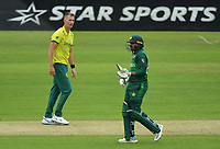 Cricket - 2019 ICC Cricket World Cup - Group Stage: Pakistan vs. South Africa<br /> <br /> South Africa's Chris Morris stares at Pakistan's Haris Sohail, at Lords.<br /> <br /> COLORSPORT/ASHLEY WESTERN