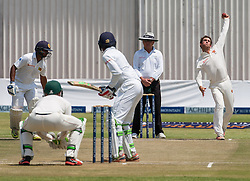 Zimbabwe bolwer Sean Williams in action during the second day of the 100th test match for Zimbabwe played in a match with Sri Lanka at Harare Sports Club 30 October 2016.