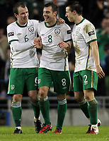 Football - Carling Nations Cup - Republic of Ireland vs. Wales<br />  <br /> Darren Gibson goal celebrations during the  Republic of Ireland vs. Wales Carling Nations Cup at The Aviva Stadium