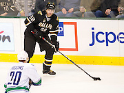 Jaromir Jagr (68) of the Dallas Stars controls the puck against the Vancouver Canucks Thursday, February 21, 2013 at the American Airlines Center in Dallas, Texas. (Cooper Neill/The Dallas Morning News)