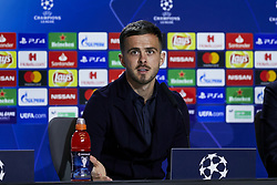 February 19, 2019 - Madrid, Madrid, Spain - Juventus' player Miralem Pjanic seen speaking during the Press Conference before the UEFA Champions League match between Atletico de Madrid and Juventus at the Wanda Metropolitano Stadium in Madrid. (Credit Image: © Legan P. Mace/SOPA Images via ZUMA Wire)