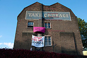 London Borough of Southwark. 21-23 Park Street, owned by the council and sold at Savills property auction for £2.96 million in spite of being occupied by community activists outraged at the sale of council housing.