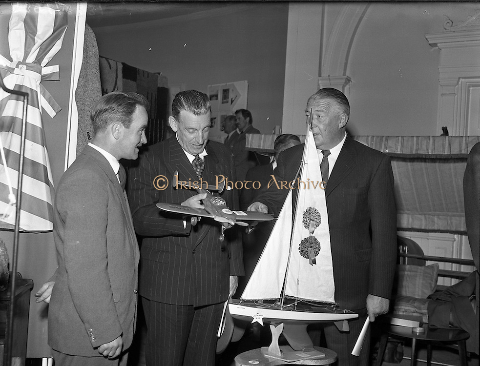 28/05/1957<br /> 05/28/1957<br /> 28 May 1957<br /> <br /> Ireland 'Takes Wings' at Mansion House - Special for Aer Lingus.<br /> Sean Lemass is present.