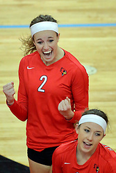 28 September 2014:  Jaelyn Keene during an NCAA womens volleyball match between the Evansville Purple Aces and the Illinois State Redbirds at Redbird Arena in Normal IL