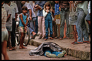 "Street shooting, Rio de Janeiro, Brazil - ""Corpse Collectors"" THE OBSERVER MAGAZINE (UK)"
