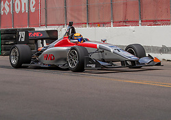 March 9, 2019 - St. Petersburg, FL, U.S. - ST. PETERSBURG, FL - MARCH 09:  driver David Malukas (79) during the Indy Lights Race of St. Petersburg on March 9 in St. Petersburg, FL. (Photo by Andrew Bershaw/Icon Sportswire) (Credit Image: © Andrew Bershaw/Icon SMI via ZUMA Press)