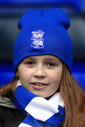 A Birmingham City fan in the stands at St Andrews
