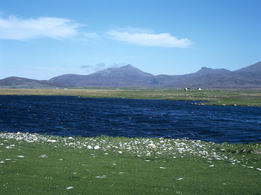 Loch and Machair, South Uist, Hebrides, Scotland, UK