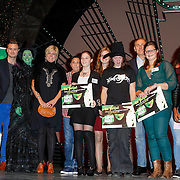 NLD/Scheveningen/20121030 - Uitreiking Talent voor Taal 2012 prijs, Pr. Laurentien met de prijswinnaars