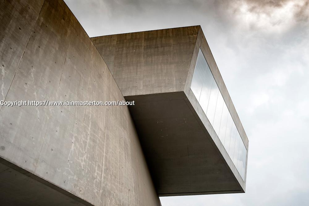 Exterior of MAXXI National Centre of Contemporary Arts designed by Zaha Hadid in Rome, Italy