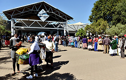 South Africa - Coronavirus - Pretoria - 04 May 2020 -  Ga-Rankuwa City crowded with mostly Sasa grant  beneficiaries to receive their pensions.<br />