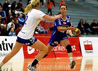 Håndball<br /> 10.03.10<br /> Postenligaen<br /> Framohallen<br /> Tertnes - Nordstrand 28 - 27<br /> Christine Homme (L) , Nordstrand<br /> Sissel Nygård Pedersen (R) , Tertnes<br /> Foto : Astrid M. Nordhaug