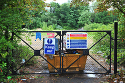 © Licensed to London News Pictures. 22/07/2017<br /> Blackbrook Lane Land entrance has now been padlocked and a skip is blocking the gate.<br /> TRAVELLERS LEAVE AN ESTIMATED 250 TONES OF RUBBISH AFTER BEING EVICTED .<br /> After 14 days of no help from Bromley Council A group called Thornet Wood Co Owners had to take out a private injuction to have travellers removed from private land Called Blackbrook Lane Land which is adjacent to Thornet Wood Road, Bickley, Greater London.  The travellers have left 250 tons of rubbish behind including baths,bricks,mattresses,wood,fridges,plastics etc..while the fire brigade and Enviroment agency are happy there is no hazardous waste it is now going to cost the consortium of land owners an estimated £100,000 to clear and clean the site.<br /> Photo credit: Grant Falvey/LNP