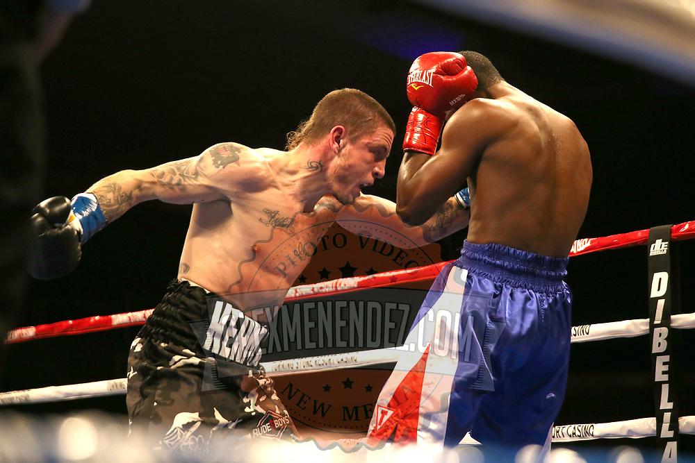VERONA, NY - JUNE 09:  Kermen Lejarraga (L) punches Jose Abreu during a ShoBox boxing match at the Turning Stone Resort Casino on June 9, 2017 in Verona, New York. (Photo by Alex Menendez/Getty Images) *** Local Caption *** Kermen Lejarraga; Jose Abreu