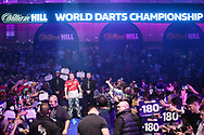 Peter Wright during the PDC William Hill World Darts Championship at Alexandra Palace, London, United Kingdom on 23 December 2019.