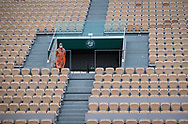Empty Seats during matches held without spectators during the first round of the Roland Garros 2020, Grand Slam tennis tournament, on September 27, 2020 at Roland Garros stadium in Paris, France - Photo Rob Prange / Spain ProSportsImages / DPPI / ProSportsImages / DPPI