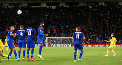 Miguel Layun of FC Porto takes a free kick - Mandatory by-line: Matt McNulty/JMP - 27/09/2016 - FOOTBALL - King Power Stadium - Leicester, England - Leicester City v FC Porto - UEFA Champions League