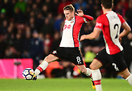 Steven Davis of Southampton in action .Premier league match, Southampton v West Bromwich Albion at the St. Mary's Stadium in Southampton, Hampshire, on Saturday 21st  October 2017.<br /> pic by Bradley Collyer, Andrew Orchard sports photography.
