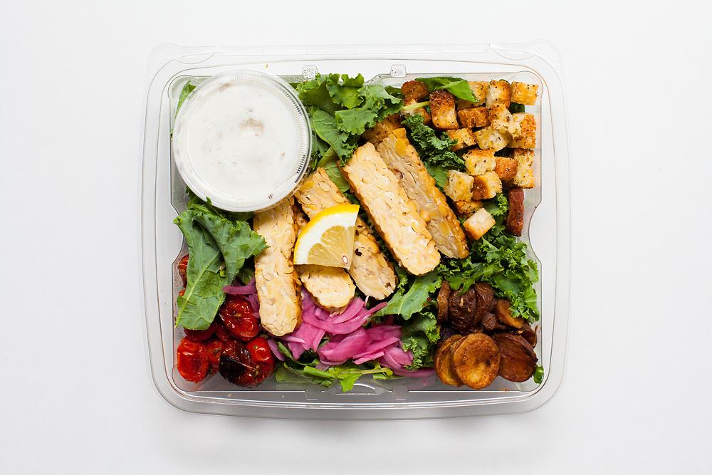 Tempeh Kale Caesar Salad from Riverwards ($9.50)