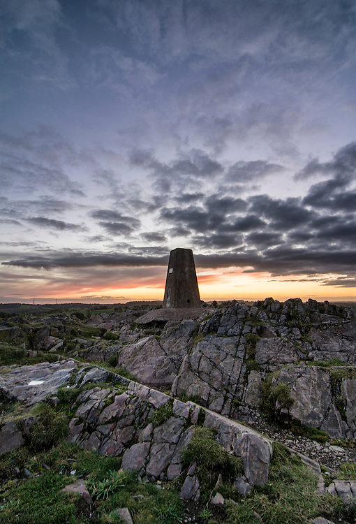 The last light of the day at Beacon Hill, Leicestershire.