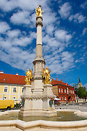 Monument outside the Cathedral of the Assumption of the Blessed Virgin Mary, Zagreb, Croatia .<br /> <br /> Visit our MEDIEVAL PHOTO COLLECTIONS for more   photos  to download or buy as prints https://funkystock.photoshelter.com/gallery-collection/Medieval-Middle-Ages-Historic-Places-Arcaeological-Sites-Pictures-Images-of/C0000B5ZA54_WD0s