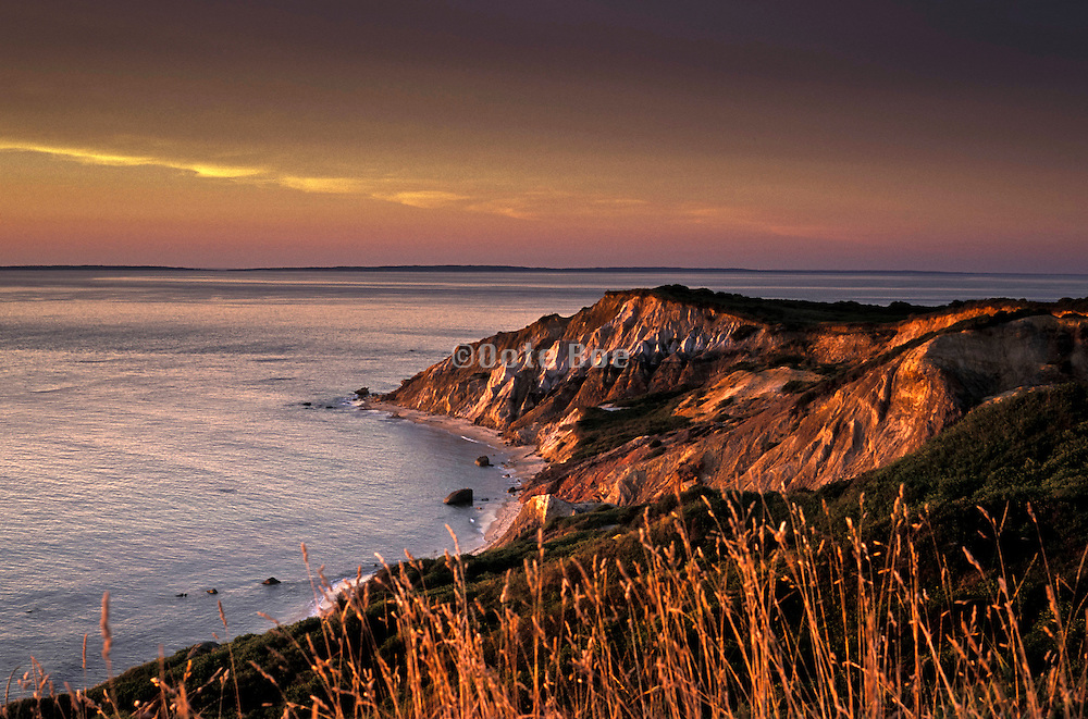 dramatic view of cliffs at Martha's Vineyard