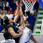 Anadolu Efes's Estaban BATISTA (L) during their Turkey Cup Qualifying basketball first match Anadolu Efes between Turk Telekom at Aliaga Arena in Izmir, Turkey, Sunday, October 9, 2011. Photo by TURKPIX