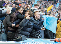 Football - 2018 Carabao (EFL/League) Cup Final - Manchester City vs. Arsenal<br /> <br /> Manchester City fans celebrate after their team take the lead at Wembley.<br /> <br /> COLORSPORT/DANIEL BEARHAM