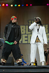 will.i.am and Taboo, The Black Eyed Peas perform on the main stage at T in the Park 2004..Pic ©2010 Michael Schofield. All Rights Reserved.