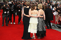 Thea Sharrock, Emilia Clarke, Jojo Moyes, Me Before You - UK film premiere, Curzon Mayfair, London UK, 25 May 2016, Photo by Richard Goldschmidt