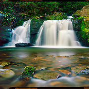 Indian Flats Falls, Great Smoky Mountains National Park. 4x5 Kodak Ektar 100. <br /> photo by Nathan Lambrecht