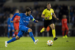 November 8, 2018 - Genk, BELGIUM - Genk's Alejandro Pozuelo pictured in action during a match between Belgian soccer team KRC Genk and Turkish club Besiktas, in Genk, Thursday 08 November 2018 on day four of the UEFA Europa League group stage, in group I. BELGA PHOTO JASPER JACOBS (Credit Image: © Jasper Jacobs/Belga via ZUMA Press)