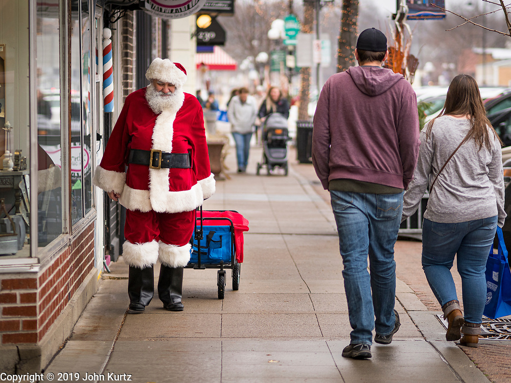 """30 NOVEMBER 2019 - WEST DES MOINES, IOWA: """"Small Business Saturday"""" was first observed in the United States on November 27, 2010, as a counterpart to Black Friday and Cyber Monday, which are generally considered events at malls, """"big box"""" stores and e-commerce retailers. Small Business Saturday encourages holiday shoppers to patronize brick and mortar businesses that are small and local. Small Business Saturday is a registered trademark of American Express.                PHOTO BY JACK KURTZ"""