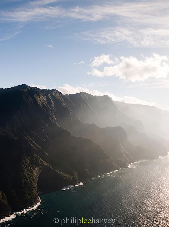 Cliffs at the Na¯ Pali Coast State Park, Kaua'i, Hawai'i