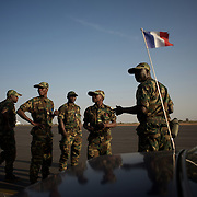 January 17, 2013 - Bamako, Mali: First group of forty five Togolese army men arrive at Bamako International Airport to take part in the international force deployed to Mali to defend the country against the islamists rebel groups advancing from the northern areas of the country.<br /> <br /> Several insurgent groups have been fighting a campaign against the Malian government for independence or greater autonomy for northern Mali, an area known as Azawad. The National Movement for the Liberation of Azawad (MNLA), an organisation fighting to make Azawad an independent homeland for the Tuareg people, had taken control of the region by April 2012.<br /> <br /> Last week the Malian government pledge to the French army to help the national troops to stop the rebellion advance towards the capital Bamako. The french troops started aerial attacks on rebel positions in the centre of the country and deployed several hundred special forces men to counter attack the advance on the ground. (Paulo Nunes dos Santos)