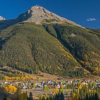 Kendall Mountain rises above Silverton, Colorado.