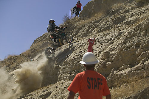 Big Nasty Hill Climb, one of the most difficult motorcycle hill climbs in North America