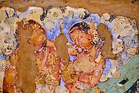 Inde, état de Maharashtra, Ajanta, grottes d'Ajanta classées au Patrimoine mondial de l'UNESCO, grotte N°2 // India, Maharashtra, Ajanta cave temple, Unesco World Heritage, cave N°2