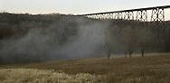 Fog forms in a field near the Moodna Viaduct in Salisbury Mills on Friday, Jan. 11, 2008.