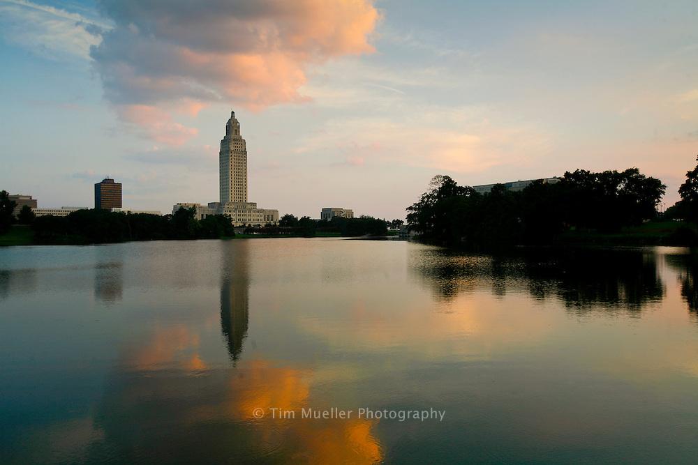 Louisiana State Capitol complex in Baton Rouge, Louisiana.